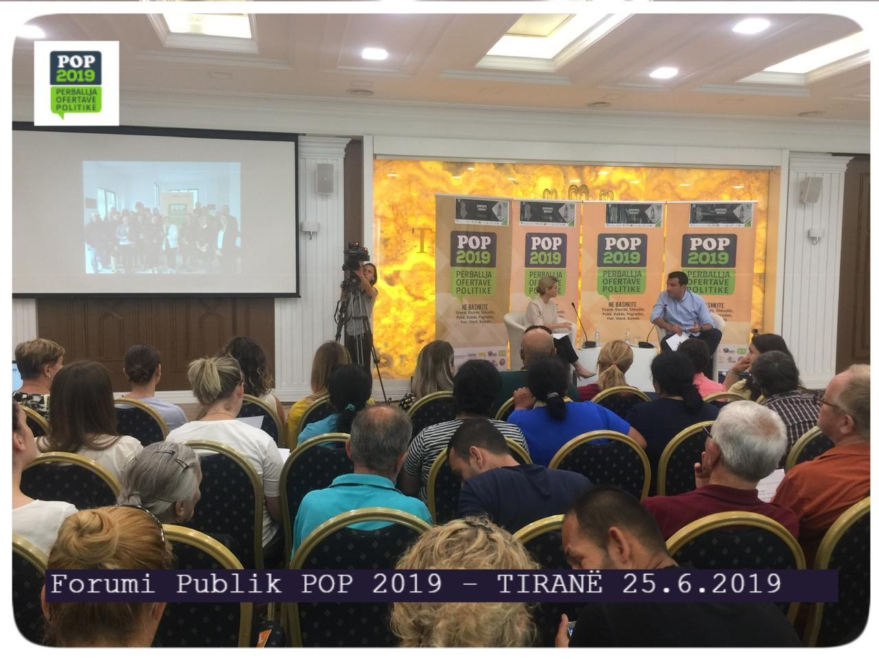 Forumi Publik POP 2019 – Tiranë