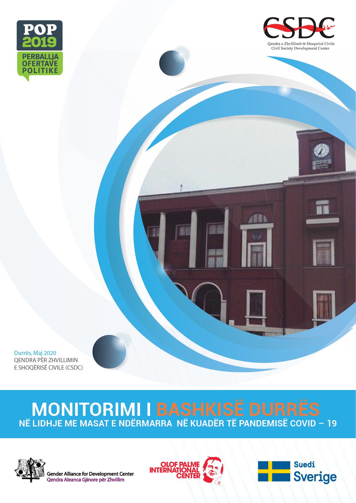Raporti i Monitorimit Bashkia Durrës