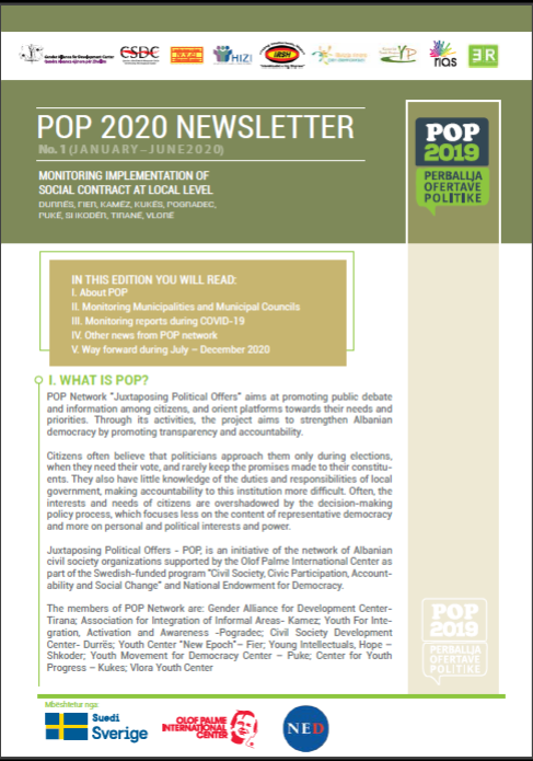 POP Newsletter no. 1