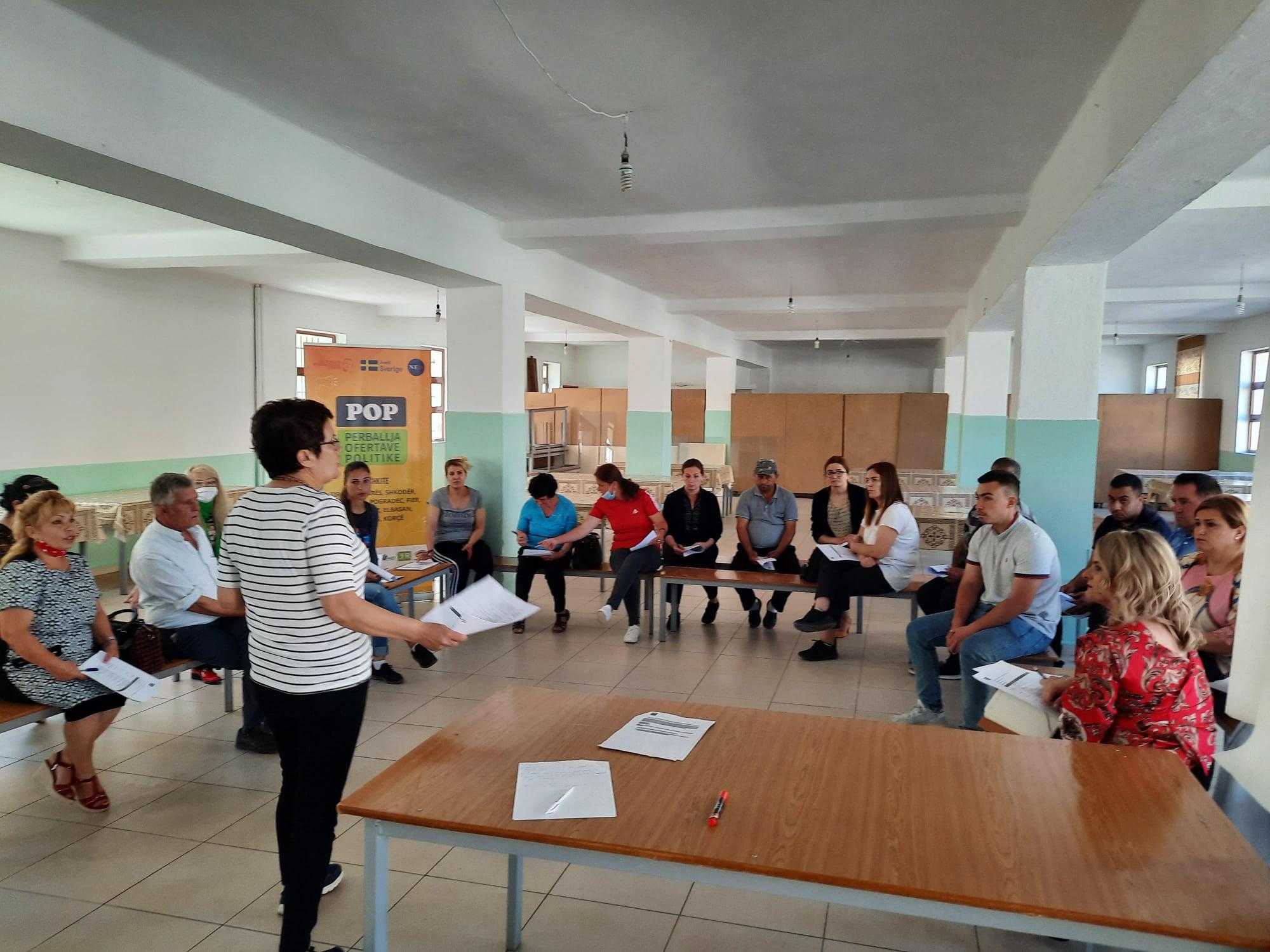 POP – Fokus-grupi i Njësisë Administrative nr.1, Elbasan