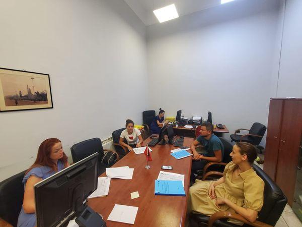 Meeting in Tirana Municipality