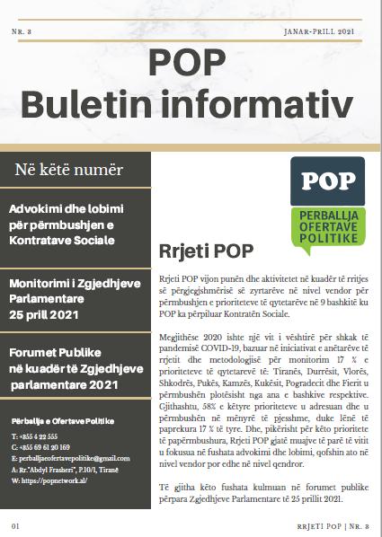 Buletini Informativ nr. 3 Janar – Prill 2021