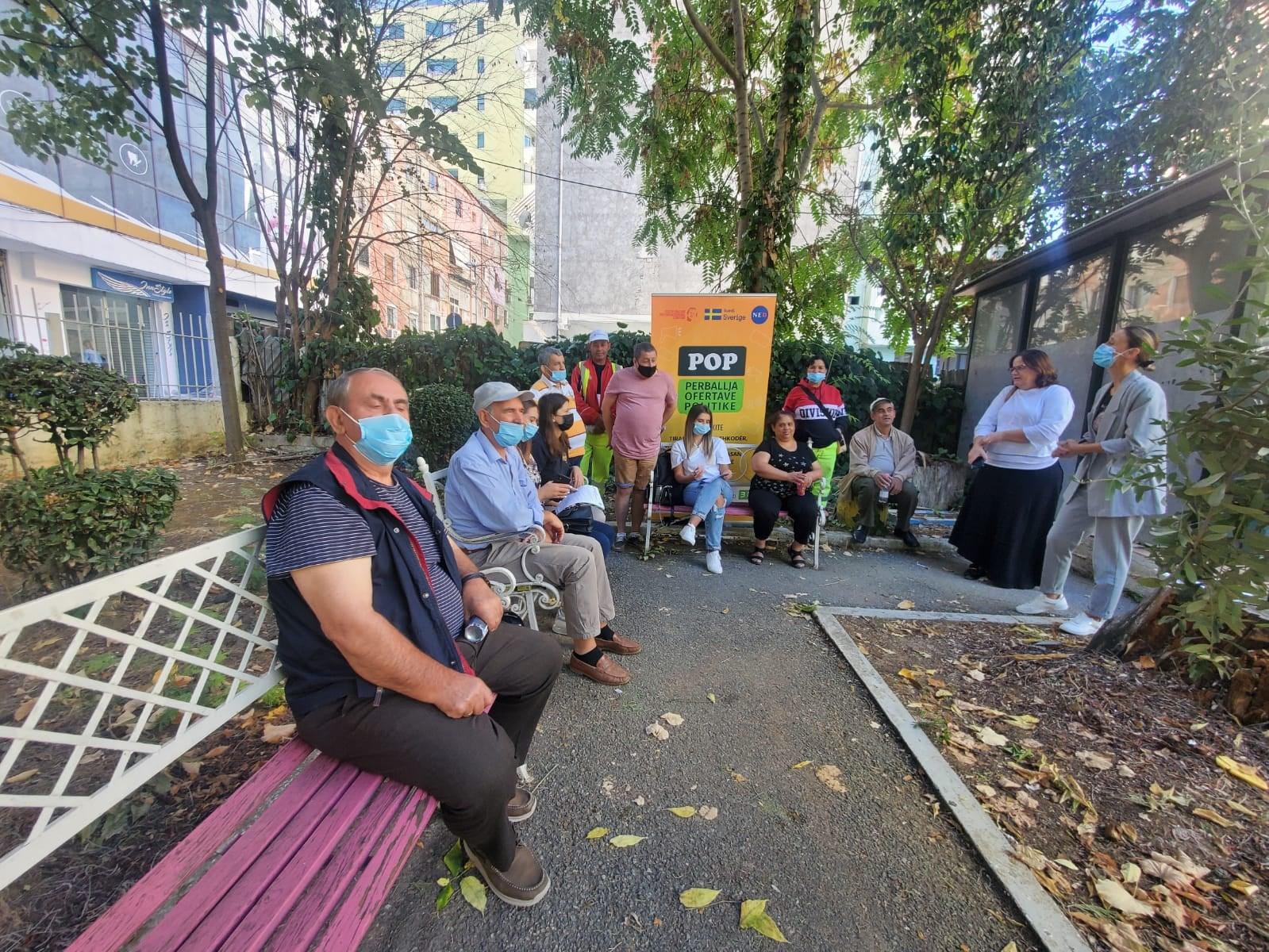 POP – Takim me fokus-grupet e Njësisë Administrative nr.5, Bashkia Tiranë. Monitorimi i Kontratës Sociale.